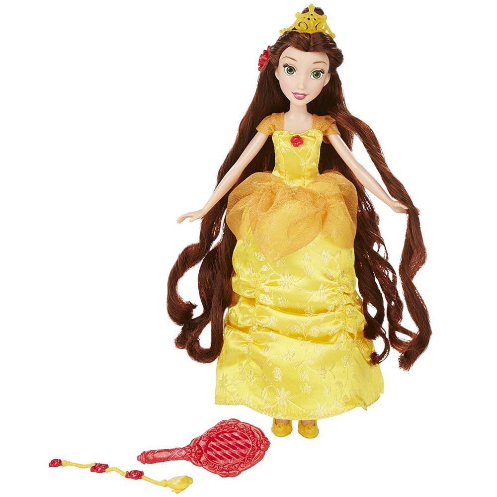 Базовая кукла Disney Princess с длинными волосами и аксессуарами - Белль (Hasbro)