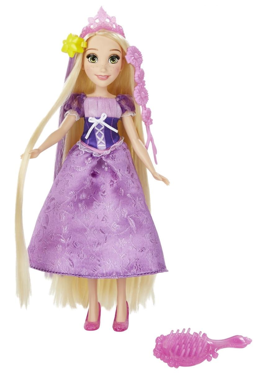 Базовая кукла Disney Princess с длинными волосами и аксессуарами - Рапунцель (Hasbro)