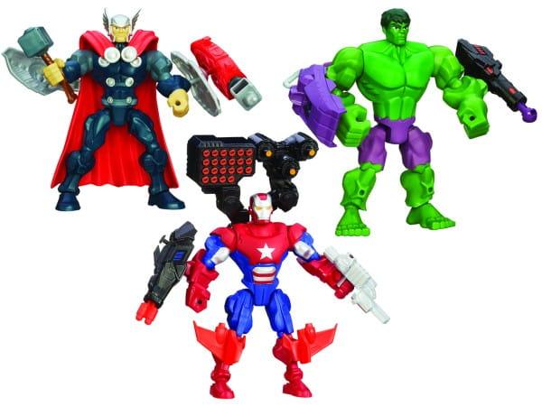 Игровой набор Avengers Мстители Разборные фигурки Марвел с оружием (Hasbro)