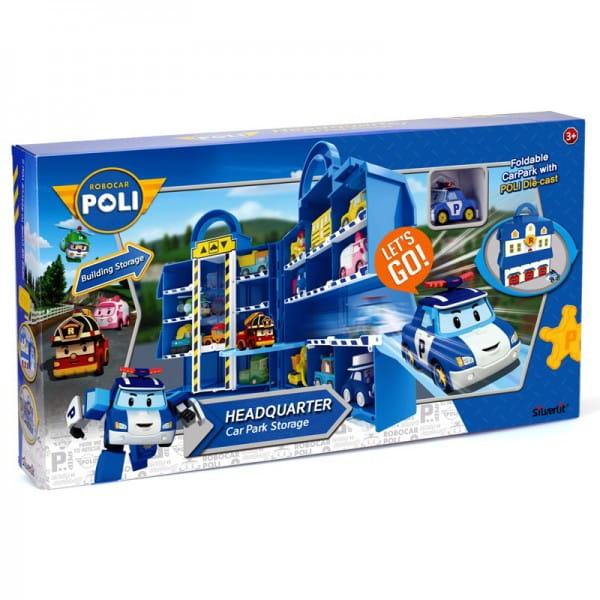 Парковка-кейс для хранения Robocar Poli 83319 с металлической машинкой Поли