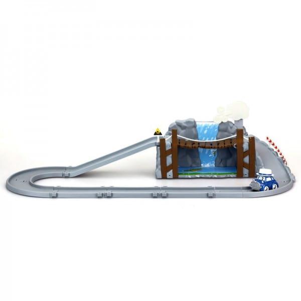 Игровой набор Robocar Poli 83317 Обрушающийся мост с металлической машинкой Масти