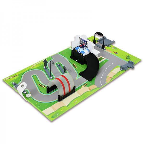 Игровой набор Robocar Poli 83280 Город Штабквартира с металлической машинкой Поли