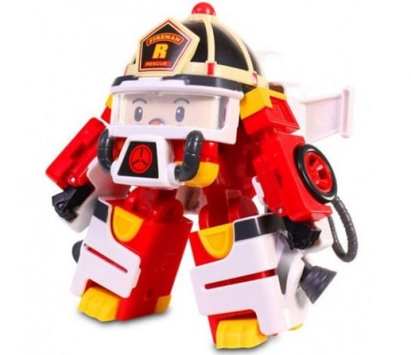 Игровой набор Robocar Poli Трансформер Рой с костюмом астронавта - 10 см