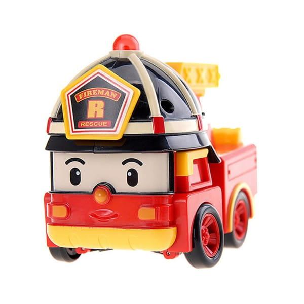 Игровой набор Robocar Poli Трансформер Рой с костюмом супер пожарного - 10 см