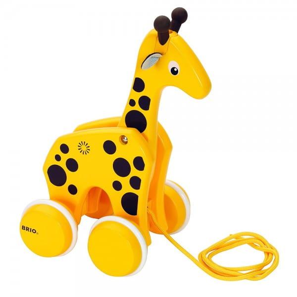 Каталка на веревочке Brio 30200 Жираф
