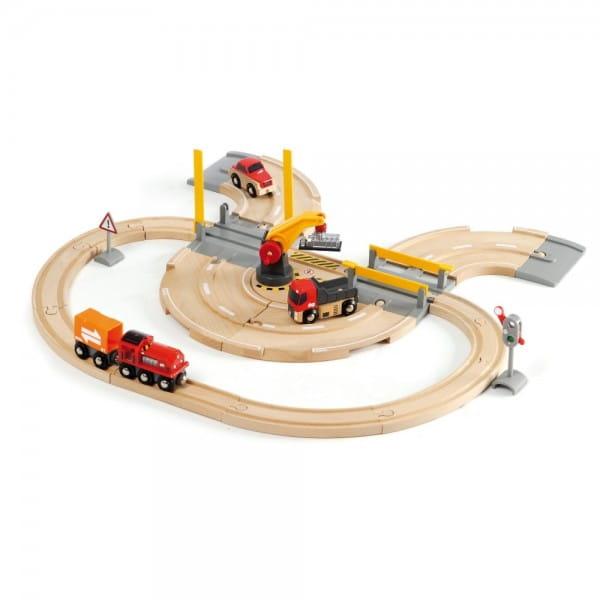 Железная дорога Brio 33208 Переезд и кран