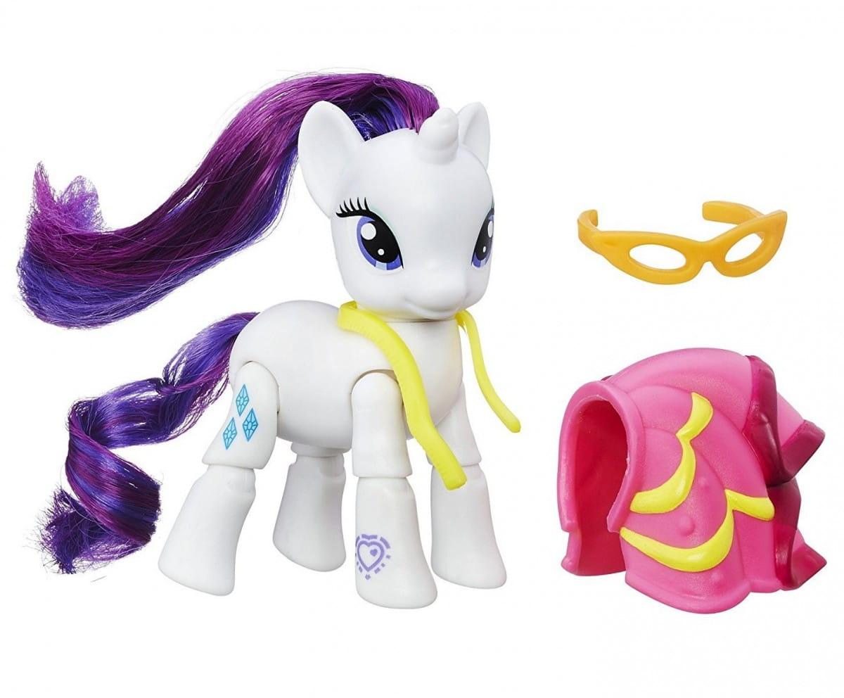 Игровой набор My Little Pony Пони с артикуляцией - Рарити Rarity с черепашкой (Hasbro)