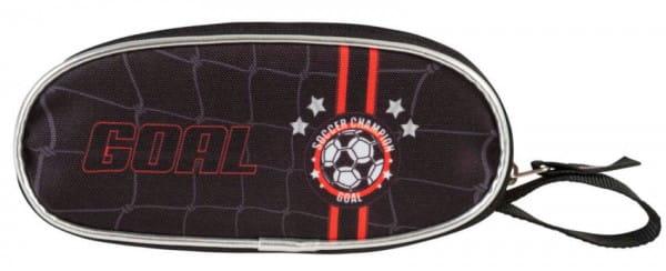 Пенал овальный Target Collection 17882 Чемпион по футболу - черный