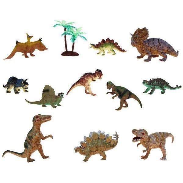 Игровой набор динозавров Megasaurs - 11 фигурок и дерево (HGL)