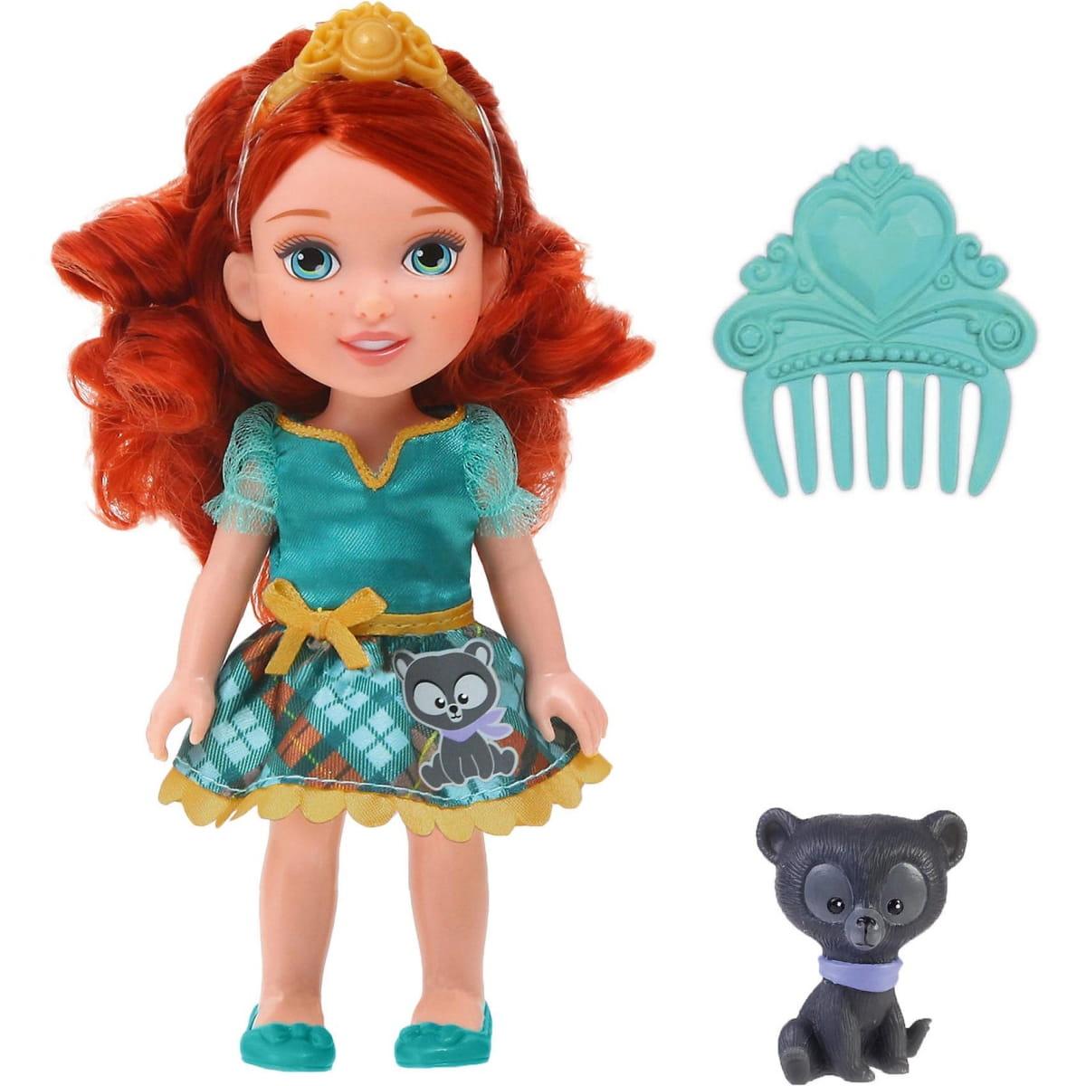 Кукла Disney Princess 756800 Принцессы Дисней Малышка Мерида с питомцем - 15 см