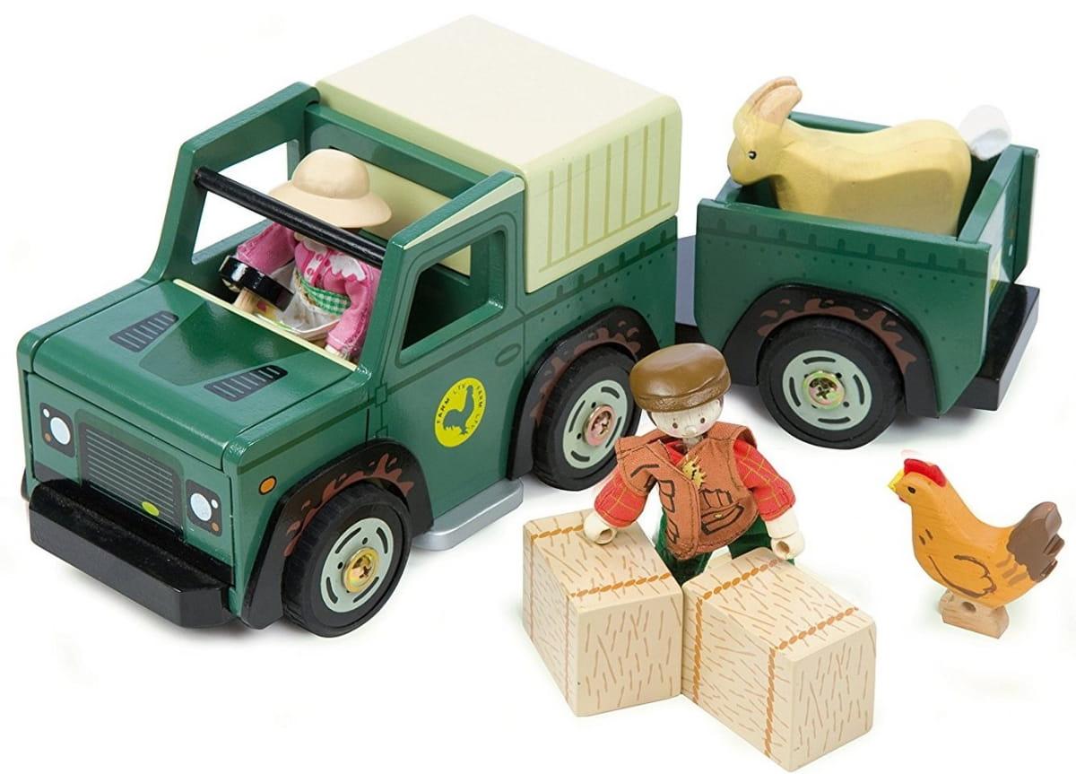 Игровой набор Le Toy Van Джип с прицепом