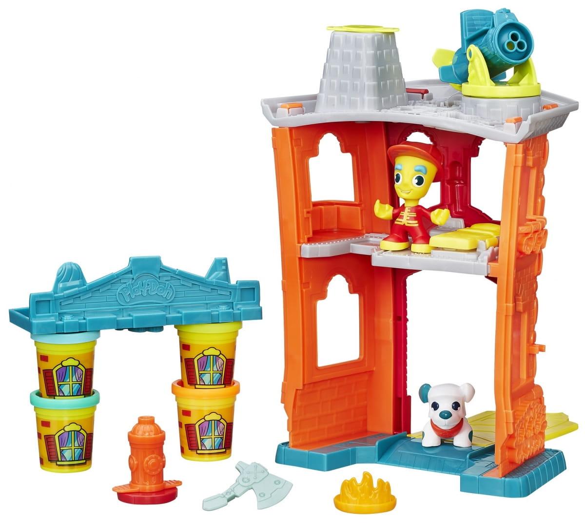 Набор для творчества Play-Doh Город Пожарная станция (Hasbro)