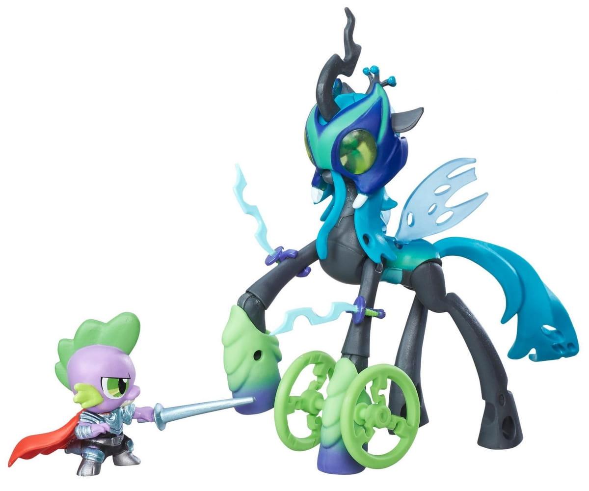 Игровой набор My Little Pony 2 фигурки с артикуляцией - Спайк и Королева Крисалис (HASBRO)