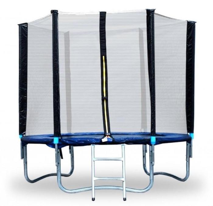 Батут Moove and Fun с защитной сеткой и лестницей - 8 футов (3 ноги)