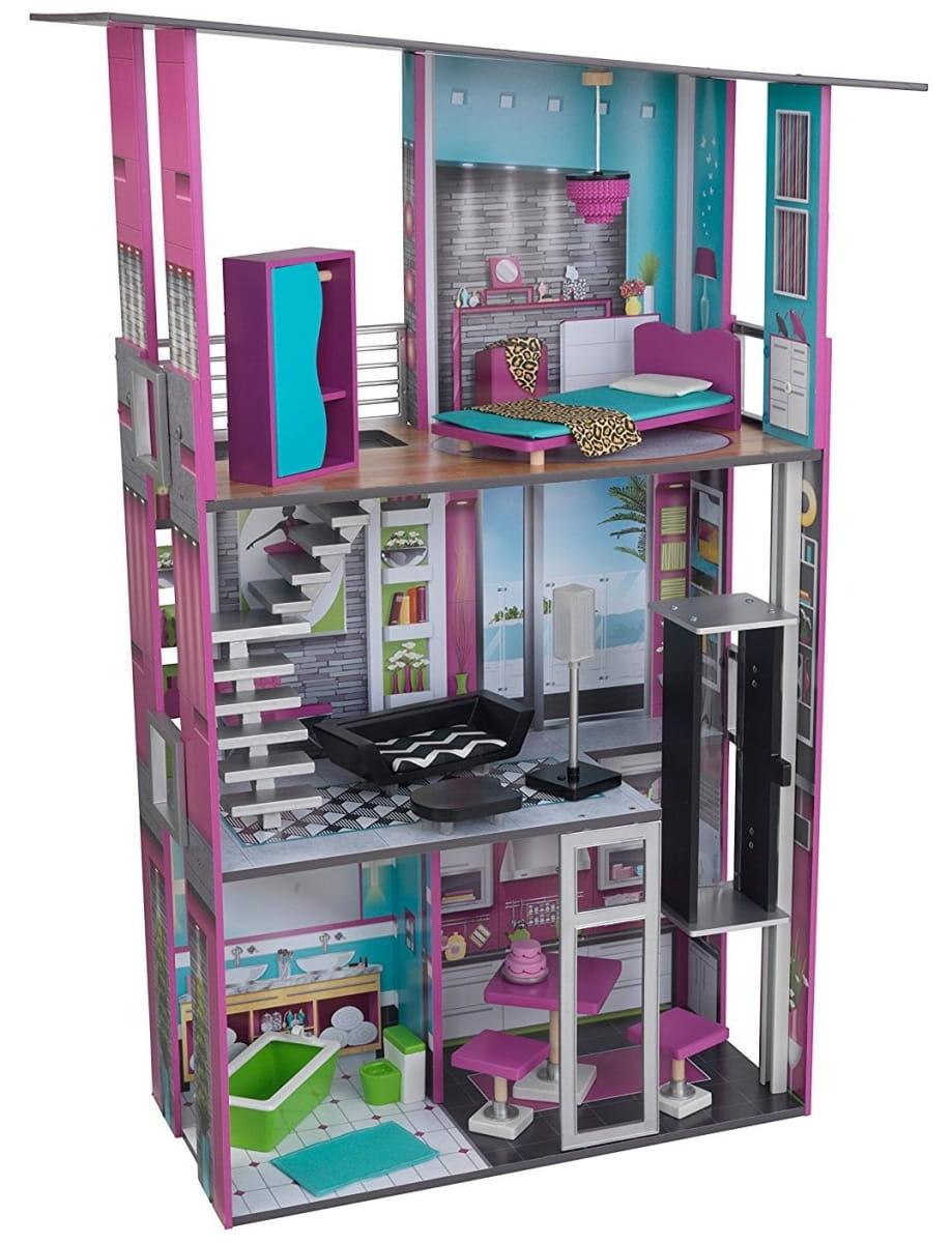 Кукольный домик с мебелью KidKraft 65192_KE Гламурный Glamorous Dollhouse