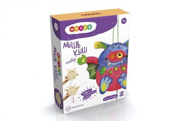 Деревянный набор для творчества Woody О0853 Мышь Кыш