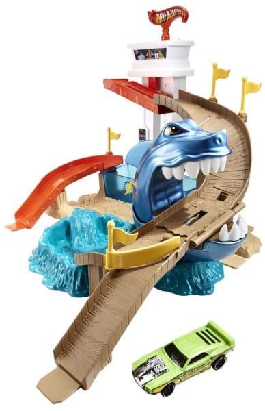 Купить Игровой набор Hot Wheels Color Shifter Автотрек Атака акулы (Mattel) в интернет магазине игрушек и детских товаров