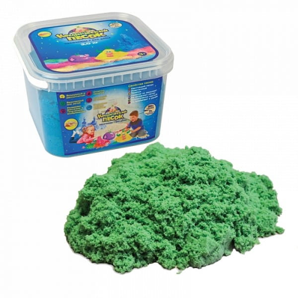 Космический песок SilverToys Зеленый (3 кг)