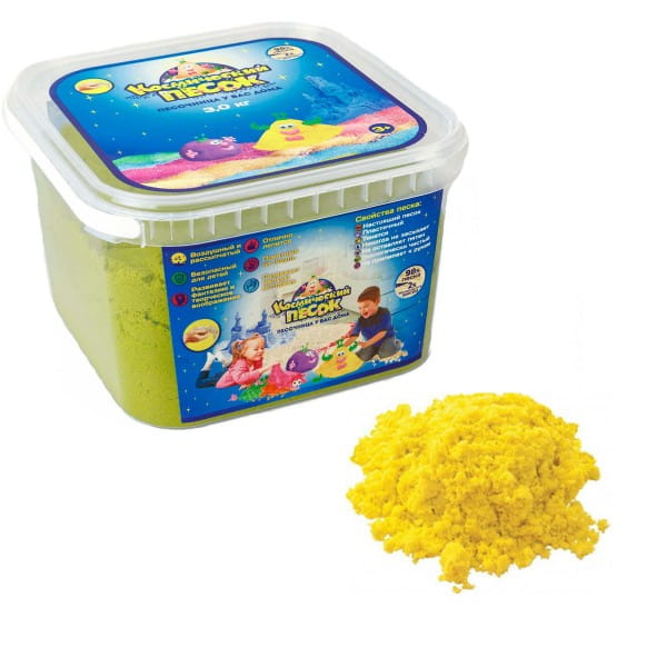 Космический песок SilverToys Желтый (3 кг)