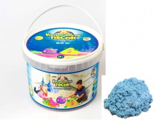 Космический песок SilverToys Голубой (2 кг)