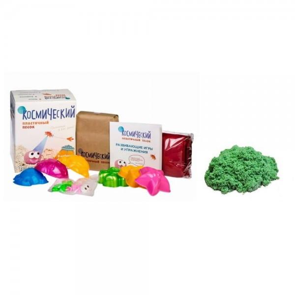 Космический песок SilverToys Зеленый - с аксессуарами (1 кг)