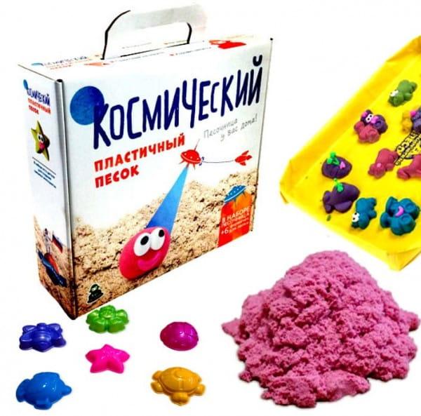 Космический песок SilverToys Розовый - с аксессуарами (1 кг)