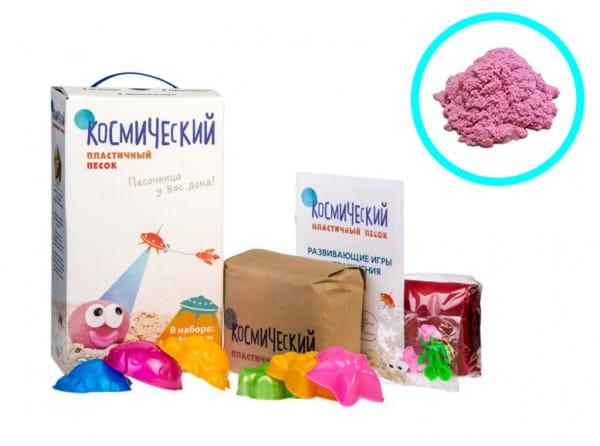 Космический песок SilverToys Розовый - с аксессуарами (2 кг)