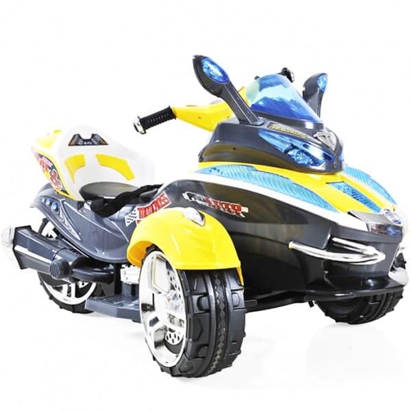 Электротрицикл 1toy - желтый