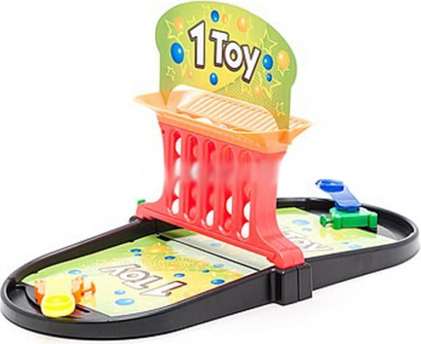 Игра настольная 1toy Т52454 2 в 1 (пинбол и баскет-линии)