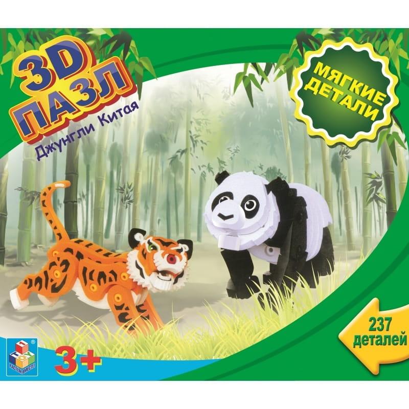 Мягкий 3D-пазл 1toy Т59381 Джунгли Китая (237 деталей)