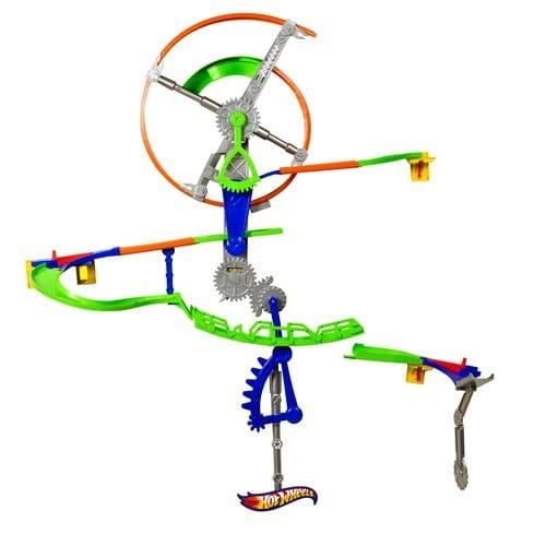 Купить Игровой набор Hot Wheels Настенные трюки Колесо-Спидвей (Mattel) в интернет магазине игрушек и детских товаров