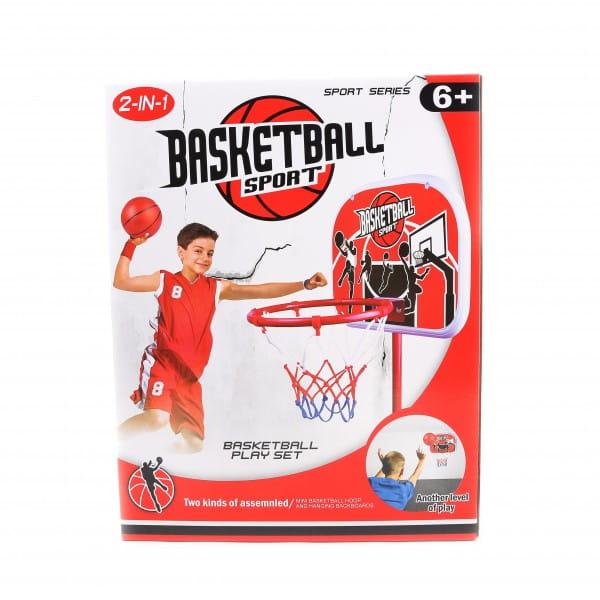 Баскетбольная стойка 1toy Т58540 регулируемая (1.6 м)