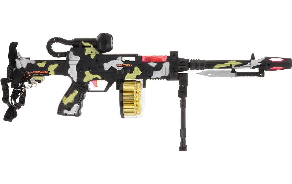 Автомат-пулемет 1toy Т58356 со светом и звуком