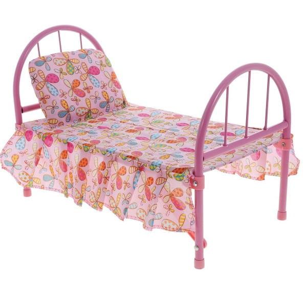 Кроватка для кукол 1toy Т57306 Цветочек