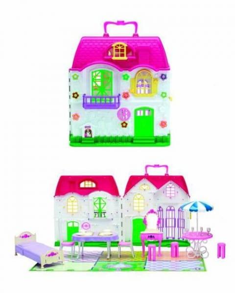 1toy Красотка дом для кукол с меб.,2 секции,28 дет кор.Т56586