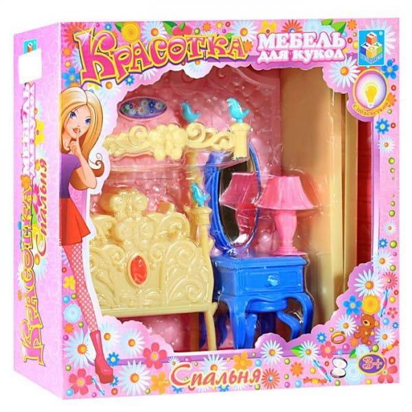 Набор мебели для кукол 1toy Т54509 Шикарная спальня