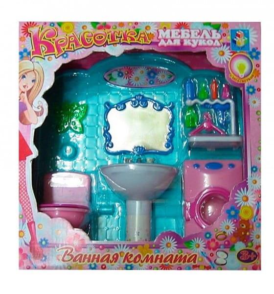 Набор мебели для кукол 1toy Шикарная Ванная комната