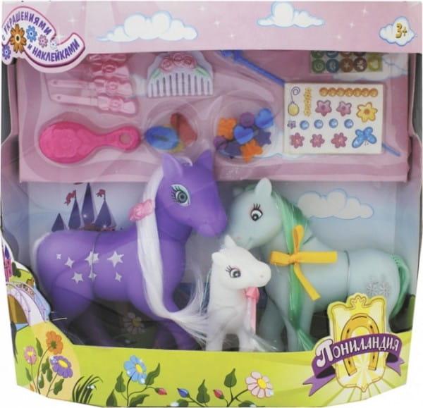 Игровой набор 1toy Т54409 Пониландия - Семья пони