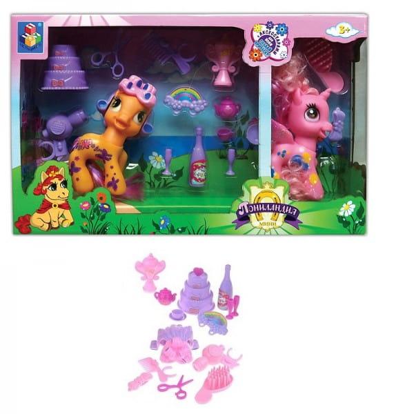 Игровой набор 1toy Т56606 Пониландия - Причеши пони
