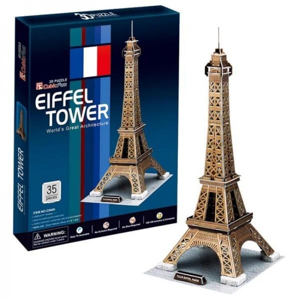 Объемный 3D пазл CubicFun Эйфелева Башня (Франция) - 35 деталей