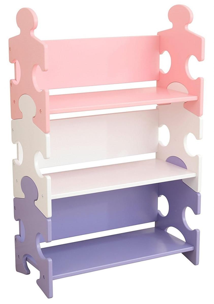 Система хранения KidKraft 14415_KE Пазл пастель Puzzle Bookshelf - Pastel