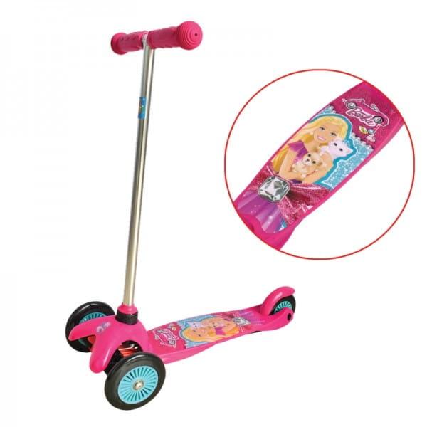 Самокат 1toy Т57618 Barbie (управление наклоном)