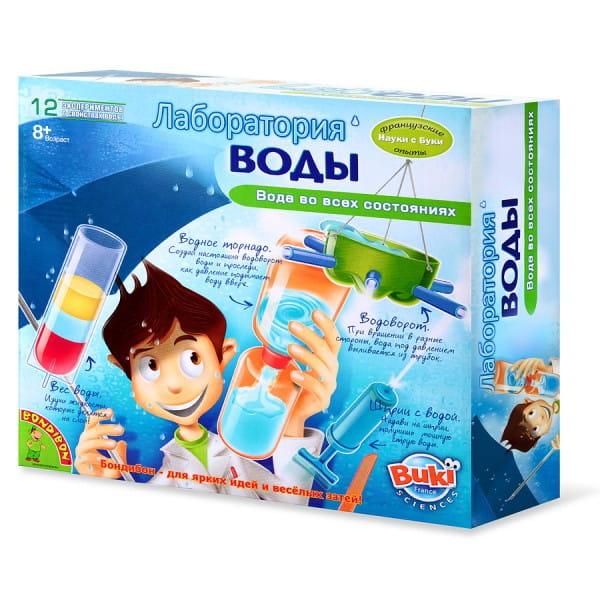 Купить Набор Bondibon Французские опыты Науки с Буки - Лаборатория воды (12 экспериментов) в интернет магазине игрушек и детских товаров