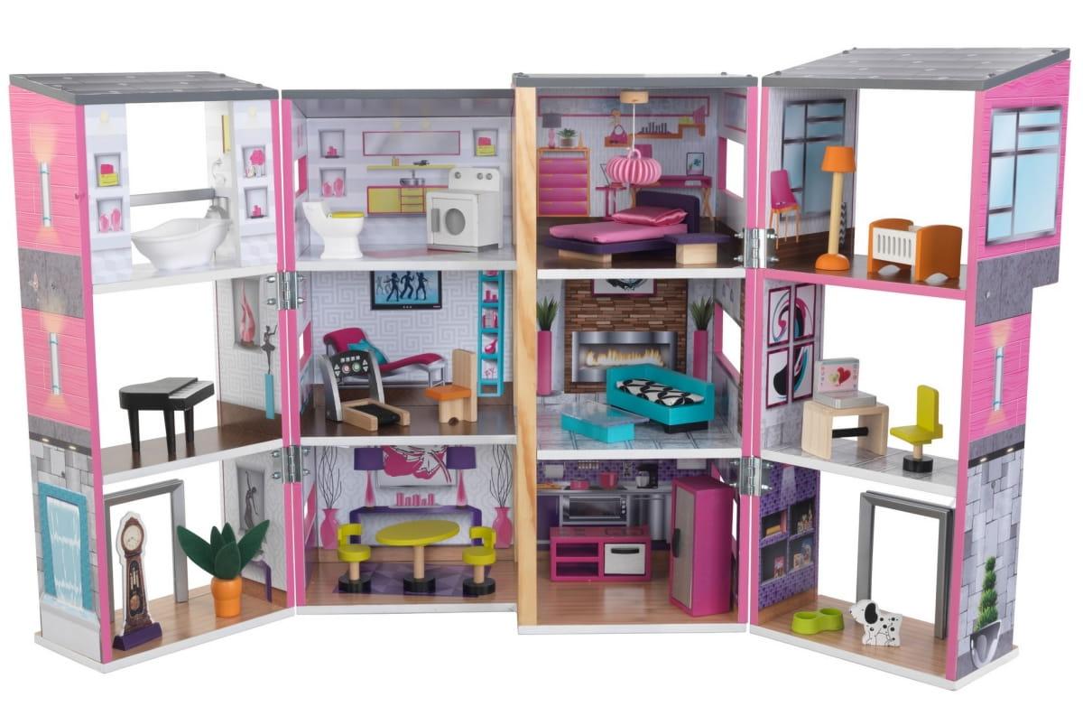 Кукольный домик KidKraft 65883 Современный Таунхаус делюкс