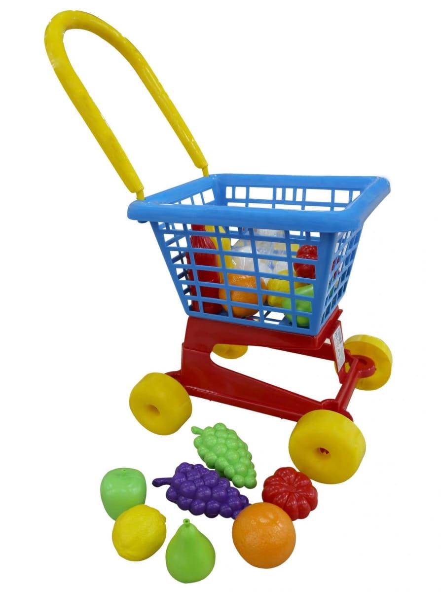 Игровой набор Palau Toys 42989_PLS Тележка Supermarket №1 c набором продуктов (в сеточке)