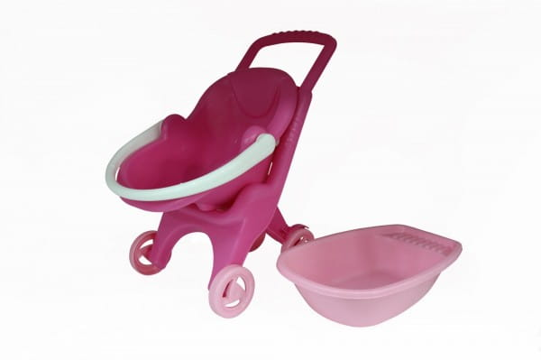 Тележка Palau Toys 42842_PLS Pink Line 3х1 (в сеточке)