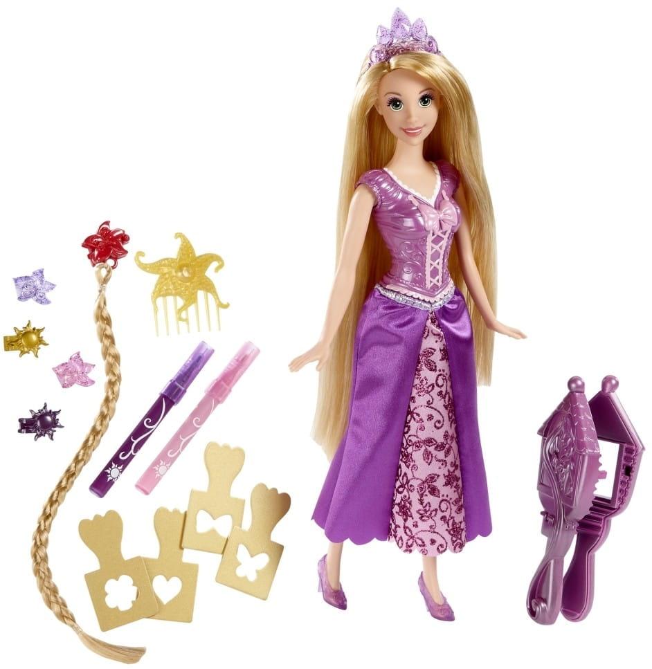 Кукла Disney Princess CJP12 Принцесса Стильные прически Рапунцель (Mattel)