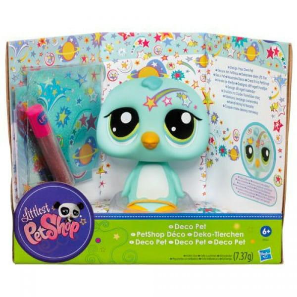 Купить Игровой набор Littlest Pet Shop Раскрась своего питомца - Птичка (Hasbro) в интернет магазине игрушек и детских товаров