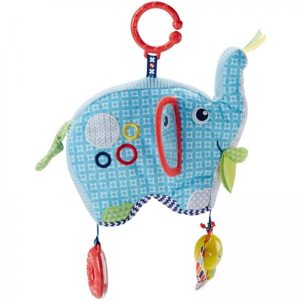 Плюшевая игрушка - подвеска Fisher Price DYF88 Слоненок (Mattel)