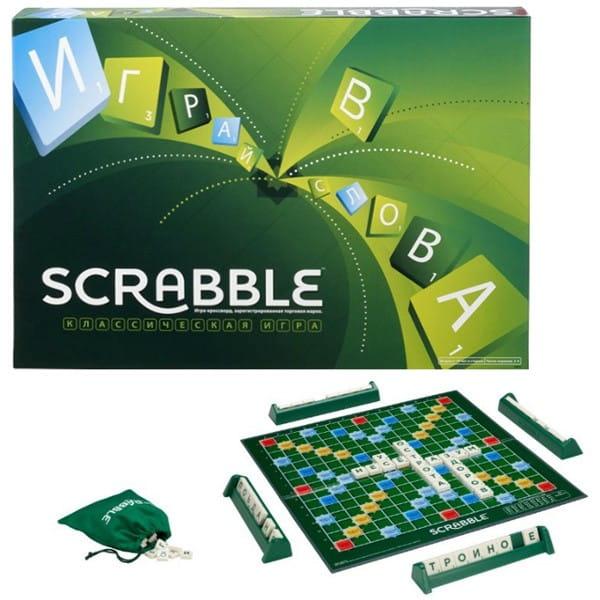 Настольная игра Mattel Y9618 Scrabble классический